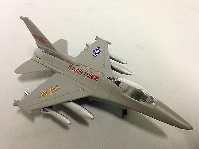 Lockheed Martin F 16 Falcon Us Aircraft 6 25  Diecast 1 92 Pull Back Toy Gray