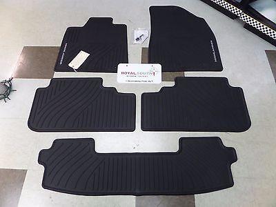 Toyota Highlander 08-13 Factory All Weather Rubber Floor Mats w/ 3rd Genuine OEM
