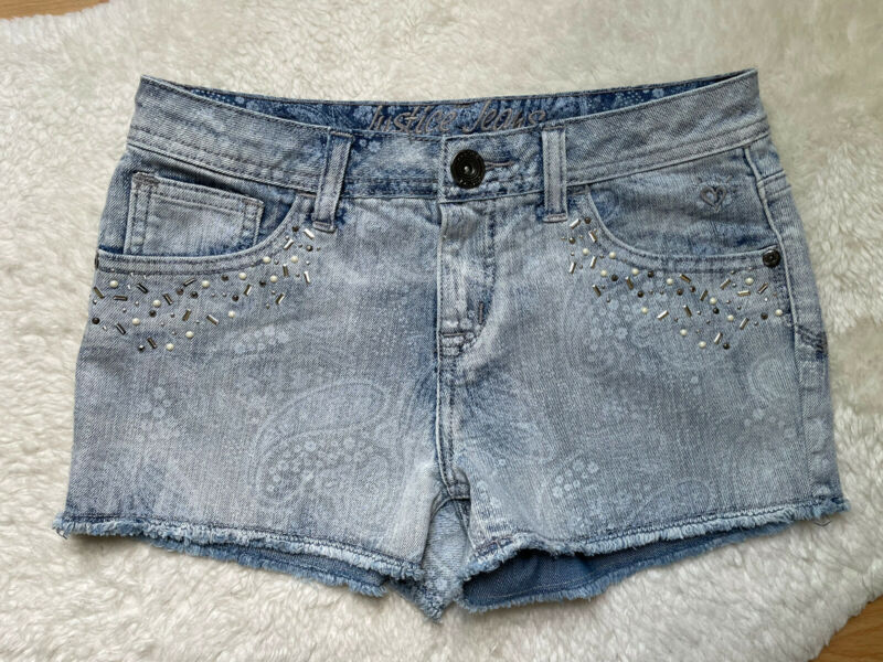 Justice Girls Blue Shorts Denim Jeans Size 10