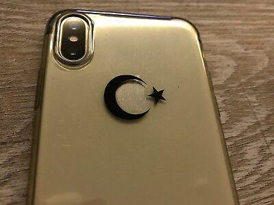 3x Ay Yildiz Schwarz Spiegel Aufkleber Sticker Auto Handy Türkiye Türkei Laptop