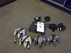 Nintendo 64 with controllers Arncliffe Rockdale Area Preview