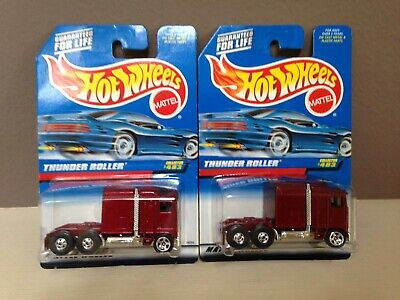 Hot Wheels # 483 Blackwall 5 StarThunder Roller Semi Truck Cab Burgandy Sparkle