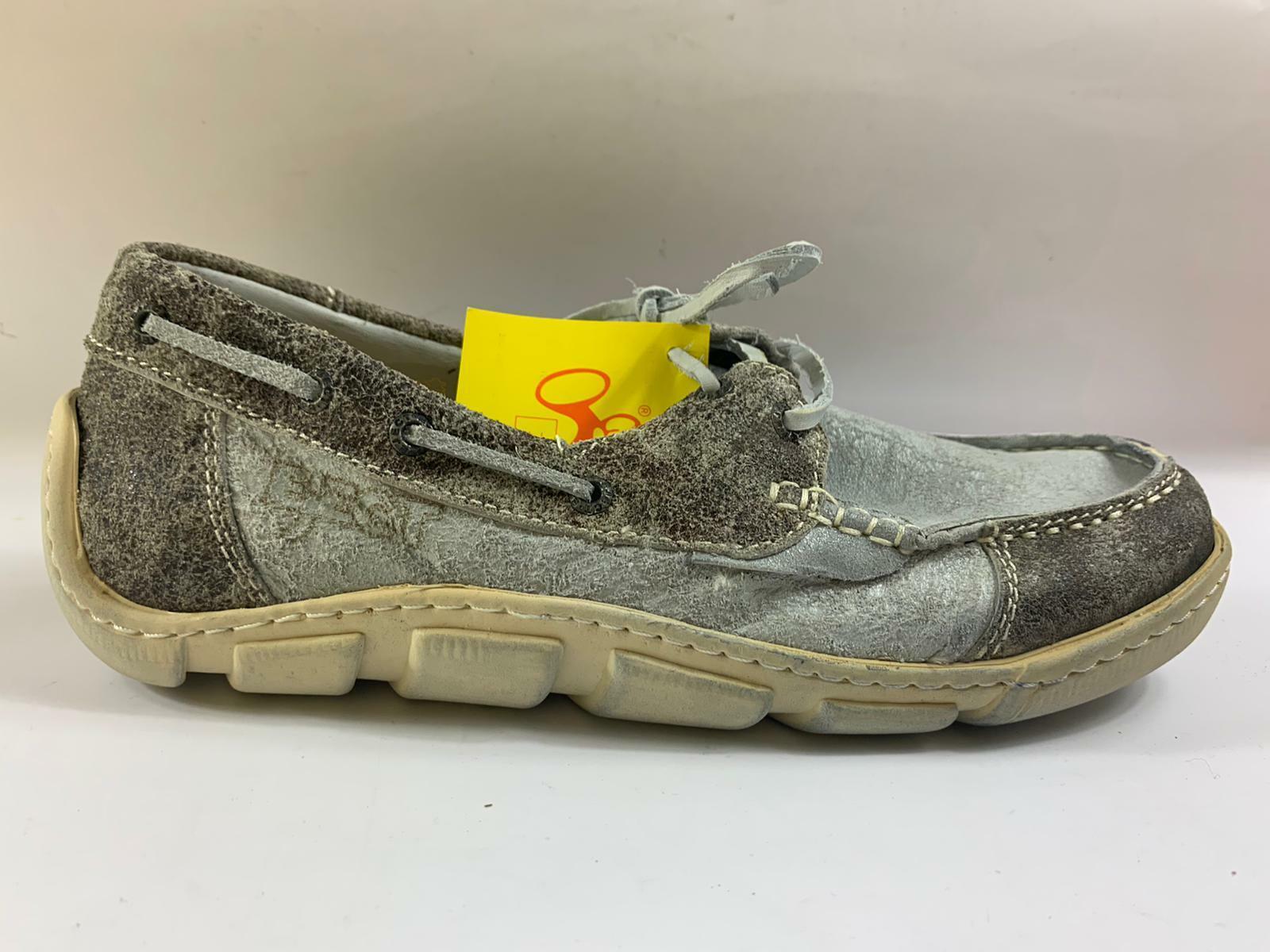 Eject Damen Schuhe Halbschuh Schuhe grau Leder  Größe 37 18.0928/R1A