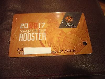 Very Rare Total Rewards Year Of The Rooster Card Prefix  180 Casino Slot Card