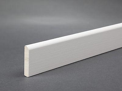 Sockelleiste Fußleiste Weiß 28mm x 5 mm Leiste Hartholz lackiert RAL9010 2,40€/m
