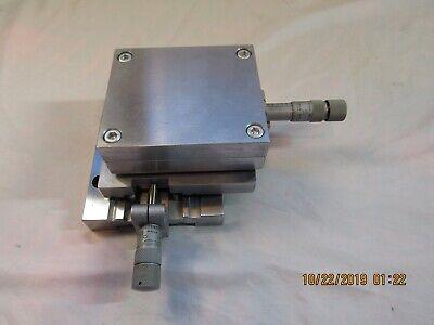 Oriel Stainless Steel X-y 2 Axis Table 3 X 3 W Lufkin Micrometers