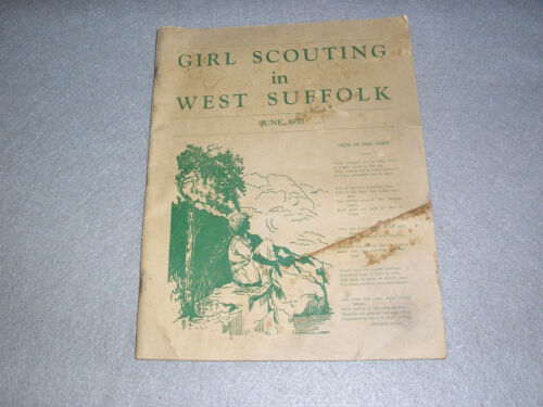 Antique 1932 Girl Scouts Magazine West Suffolk County Long Island New York Book