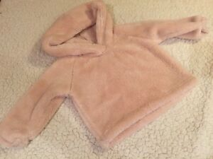 Baby girl pink spring sweater top hoodie 6 -12 month