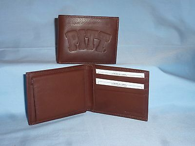 PITTSBURGH Pitt PANTHERS  Leather BiFold Wallet   NEW  dark brown 4 ()