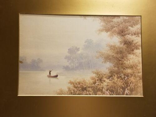 Signed: R. Hidesaki Japanese watercolor painting ca. 1900 - 1920