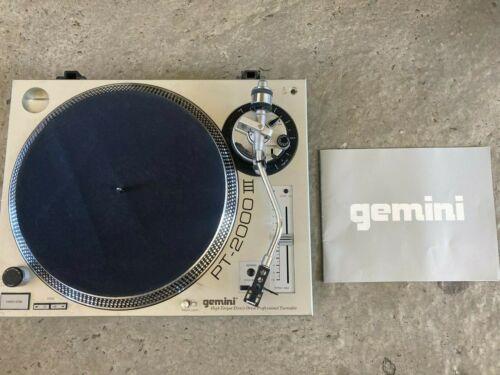 Gemini PT-2000 III High Torque Direct Drive Quartz Lock Professional Turntable