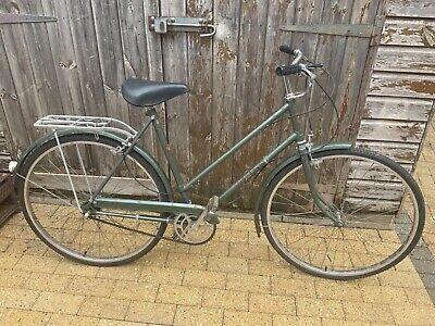 Vintage Hercules Commuter Ladies Bicycle Bike Green Brooks Seat MK642203