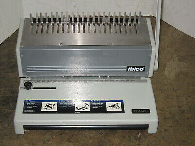 Ibico Ibimatic Comb Binding Punch Office Equipment Machine