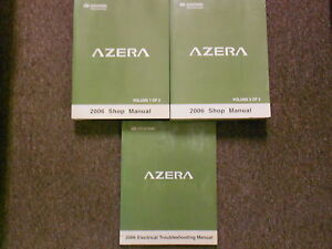2006 hyundai azera service repair shop manual set w wiring diagram factory  new