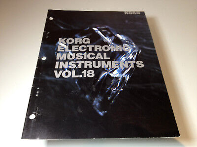 Korg Electronic Musical Instruments Catalog Vol #18 (1989)(Product Brochure)