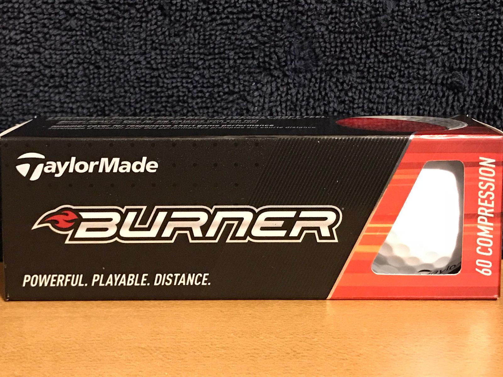 TaylorMade Burner 60 Compression  3pk Golf Balls NIB!