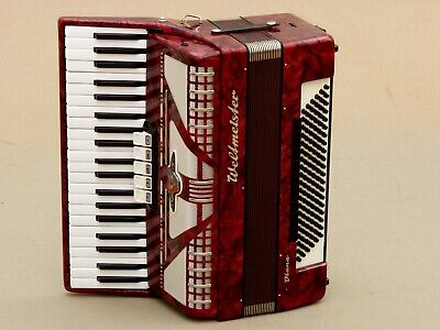 Excellent German Accordion Weltmeister Diana 120 bass Including case .