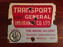 Old Enamel insurance sign Tallegalla Ipswich City Preview