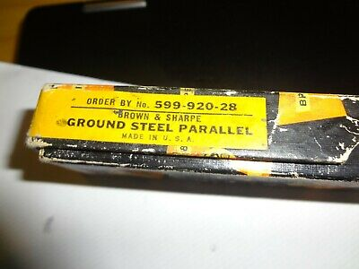 Brown And Sharpe 599-920-28 Ground Steel Parallel