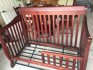 4-in-1 hardwood Convertible Crib