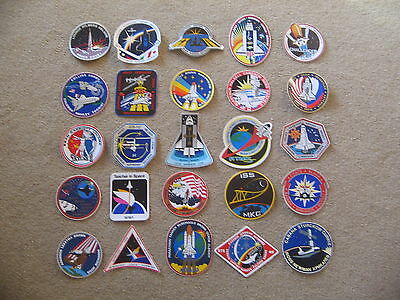 (25) Different NASA SPACE SHUTTLE Mission Stickers Decals Lot #1