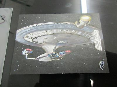 Star Trek Tng Portfolio Prints Series 2 Sketch Uss Enterprise   Lee Lightfoot 53