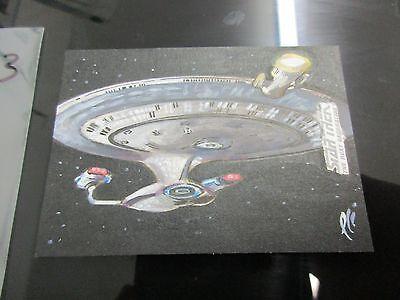 Star Trek Tng Portfolio Prints Series 2 Sketch Uss Enterprise   Lee Lightfoot 53