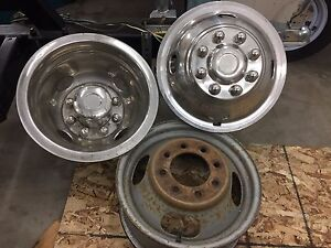 "16"" chevy /gmc dually rims and inserts"