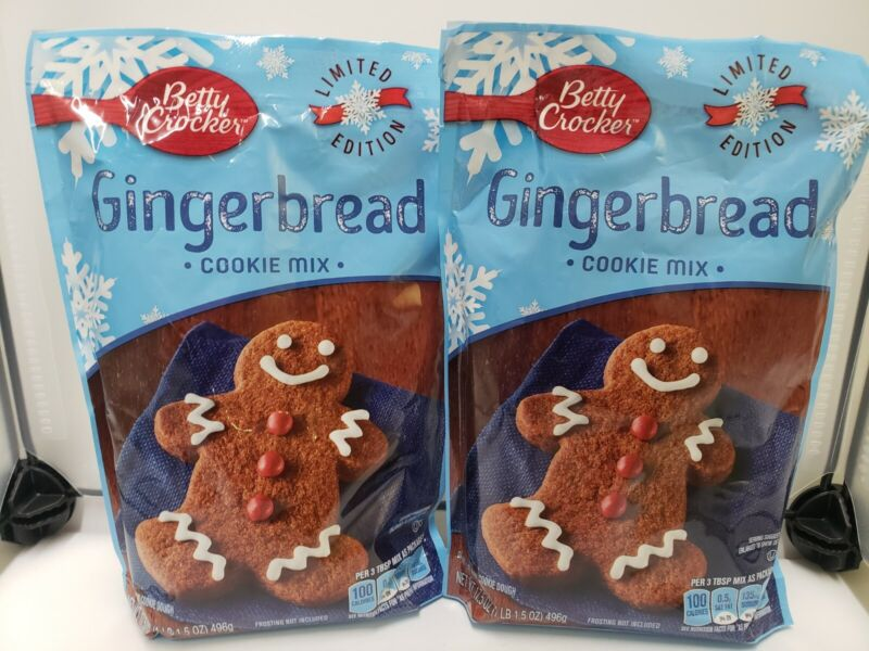 Betty Crocker Limited Edition Gingerbread Cookie Mix 17.5 oz Pouch X 2