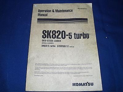 Komatsu Sk820-5 Turbo Skid Steer Loader Parts Catalog Book Manual 37btf50112-up