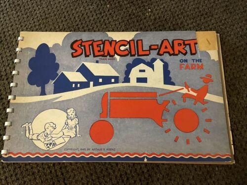 Vintage Stencil-Art on the Farm 1949 children's activity book arts & crafts