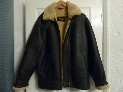 LAKELAND SHEEPSKIN / LEATHER FLYING JACKET, MENS SIZE 40