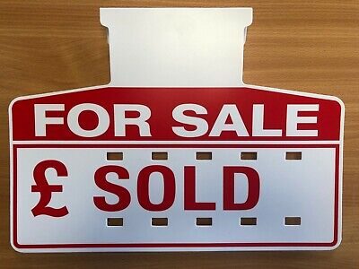 Car Sales Signs/Price Boards, PLUS Number Sheets (Red) (10)
