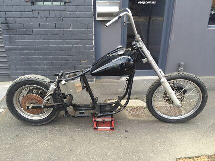 Harley Davidson shovelhead roller Melbourne CBD Melbourne City Preview