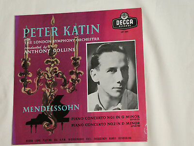 Peter Katin, LSO & Anthony Collins:Mendelssohn Piano Concertos Nos 1&2: LXT 5201