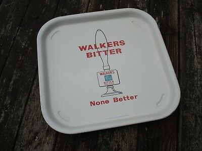 Original Brewery advertising tray. Walkers Bitter. Warrington.