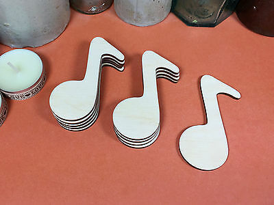 WOODEN MUSICAL NOTE SHAPES 7.6cm(x10) lasercut wood cutouts wood crafts shape](Musical Note Cutouts)