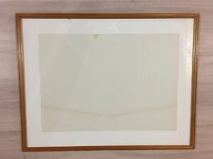 Large wood frame with glass and Mat $20