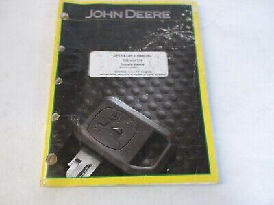 John Deere 328 And 338 Square Balers Operators Manual