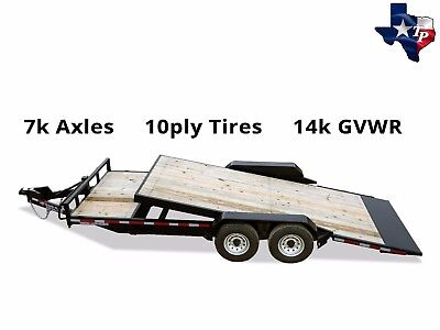 Brand New Texas Pride 7 X 21 Bumper Pull Lowboy Tilt Trailer 14k Gvwr