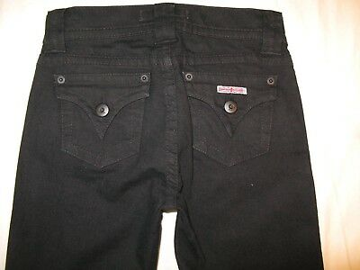 Hudson Kleine Mädchen Bootcut Jeans Gr. UK 8 Klapptaschen Schwarz Stretch L 27 Kleine Mädchen Jeans Schwarz