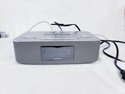 Phillips DC291/37 30 Pin Docking Station Radio Clock Alarm Speaker iPod/iPhone