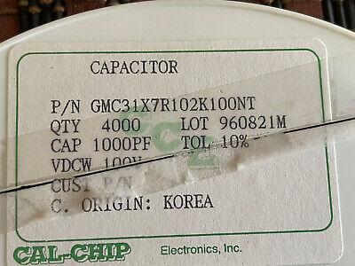 Ceramic Capacitor 1000pf 100 V Smd 1206 4000 Pcs