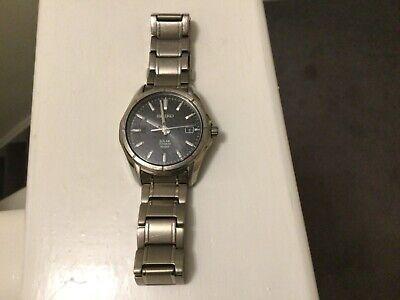 Seiko Solar Titanium V157-0AF0 watch ,38 mm diameter,in good working order.