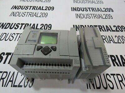 Allen Bradley Micrologix 1100 1763-l16bwa Ser A W 1762-ob8 Used