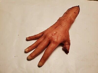 Halloween Film Rights (Silicone HORROR PROP severed female right hand movie gore blood zombie dead)