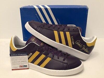 Kareem Abdul-Jabbar Signed Adidas Basketball Shoes  Los Angeles Lakers PSA 72dc33948