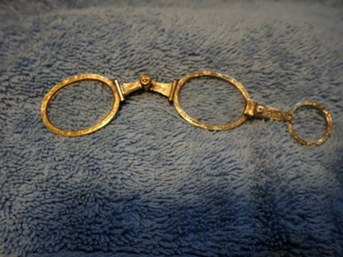 """VICTORIAN ENGRAVED GOLD OVAL SPRING-OUT """"SLIDER"""" LORGNETTE IN GREAT CONDITION!"""