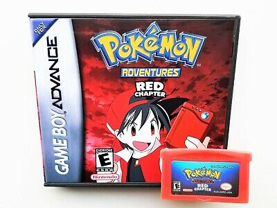 Pokemon Adventures Red Chapter Custom Game Gameboy Advance GBA Anime Manga USA
