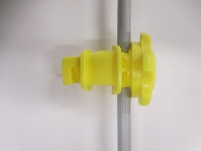 Dare Products Inc Western Round Post Insulator- Yellow 25 Pa